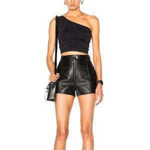 3.1 Phillip Lim Black Leather Short NWT Size 2